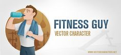 Download here Free Healthy Fitness Man Character Vector Graphic in AI file format