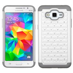 MYBAT Samsung Galaxy Grand Prime Lattice Full-Star Case - White/Grey Best Cell Phone, Cell Phone Cases, Tablet Cases, Girls Be Like, Phone Covers, Samsung Galaxy, Pink White, Hot Pink, Headpieces