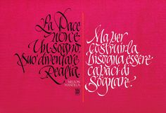 Calendario Emergency 2012 by Luca Barcellona - Calligraphy & Lettering Arts, via Flickr
