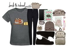 """""""#PVxPusheen   You're a Wizard Pusheen"""" by killjoy-sam ❤ liked on Polyvore featuring Pusheen, Armani Jeans, Ann Demeulemeester, contestentry and PVxPusheen"""