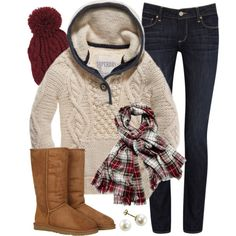 """Cozy in Cream"" by qtpiekelso on Polyvore"