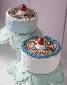 Learn how to DIY Decoupage - Mini Cake with Cherry on Top #plaidcrafts
