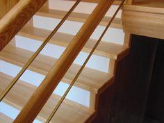 schody jesionowe z białymi podstopniami www.stolarstwoszudera.pl Stairs, Home Decor, Stairway, Decoration Home, Room Decor, Staircases, Home Interior Design, Ladders, Home Decoration
