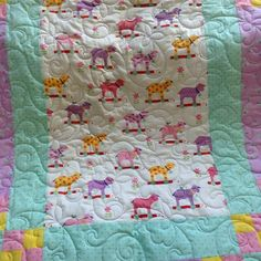 #longarmquilted this baby girl #quilt for the local quilt shop. Can't wait to go see it hanging in the store!