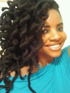 Curly locs!< makes me want to continue to grow my hair :)