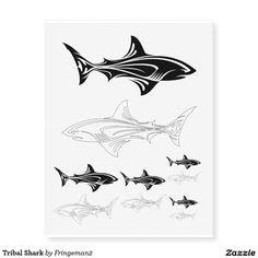 Tribal Shark Temporary Tattoos