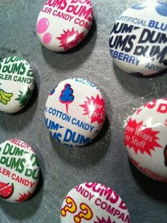 """Cute idea posted by Dum Dums on IG - """"Check out these cool magnets! Have you ever made crafts using Dum Dums wrappers? Kids Crafts, Summer Crafts, Cute Crafts, Crafts For Teens, Creative Crafts, Crafts To Make, Craft Projects, Craft Ideas, Diy Locker"""