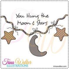 Moon & Stars 1 Machine Embroidery Design http://trinawalker.com/shop/index.php?main_page=product_info&cPath=78_79&products_id=145