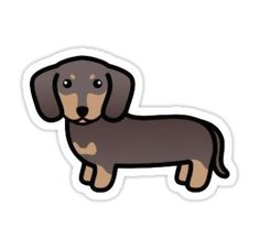 'Weiner Dog ' Sticker by Kay La Tumblr Stickers, Phone Stickers, Kawaii Stickers, Cool Stickers, Printable Stickers, Cute Kawaii Drawings, Cute Animal Drawings, Homemade Stickers, Red Bubble Stickers