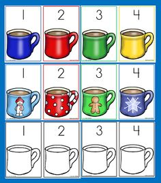I have added 3 sets of Hot Cocoa Miniature marshmallow counting cards to the 1 - 2 - 3 Learn Curriculum web site. Numbers 1 - 20. Place the correct number of marshmallows onto each cup of hot cocoa. These are located under the Polar Express link.