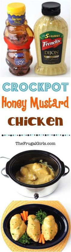 Crockpot Honey Mustard Chicken Recipe! ~ from TheFrugalGirls.com ~ this Slow Cooker dinner recipe is ridiculously easy to make and packed with delicious flavor in the sauce!!
