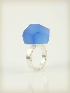 Vu - cobalt blue, silver ring - =PYO=