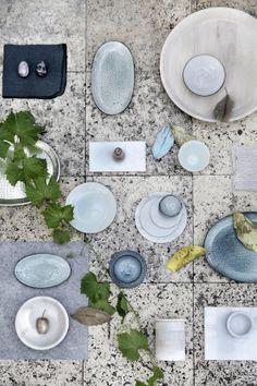 Broste Copenhagen - Bowl 'Nordic Sea' Stoneware D - Distelroos Ceramic Table, Ceramic Pottery, Made By Mary, Broste Copenhagen, Color Palate, Vintage Dishes, Interior Inspiration, Stoneware, Summer