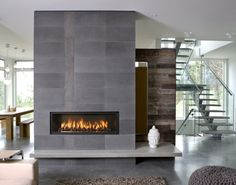 Linear Fireplace Town and Country