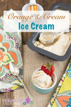 Low Carb Orange & Cream Ice Cream {Paleo} by Holistically Engineered Sugar Free Ice Cream, Paleo Ice Cream, Low Carb Ice Cream, Homemade Ice Cream, Ice Cream Recipes, Paleo Sweets, Paleo Dessert, Low Carb Desserts, Frozen Desserts