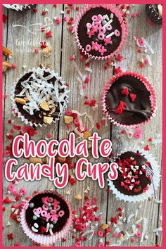 Homemade Chocolate Candy Cups - Simple Homemade Chocolates Dark Chocolate Candy, Chocolate Candy Recipes, Valentine Chocolate, Chocolate Lovers, Easy Candy Recipes, Fudge Recipes, Delicious Recipes, Dessert Recipes, Healthy Recipes