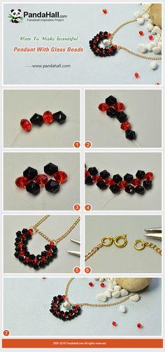 #Beebeecraft tutorials on making beautiful pendant with #glassbeads