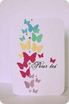 card butterflies