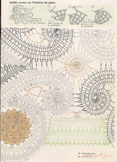"ru / Photo # 23 - Napkins ""Bruges"" (with color photos) - Alleta Filet Crochet, Crochet Diagram, Irish Crochet, Crochet Motif, Crochet Doilies, Crochet Flowers, Crochet Stitches, Knit Crochet, Crochet Patterns"