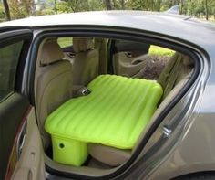 Inflatable Backseat Car Mattress. I seriously want one of these.
