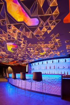 Reinventing a Classic: Reunion Tower Observation Deck Re-Opens - Urban Planning . - Reinventing a Classic: Reunion Tower Observation Deck Re-Opens – Urban Planning and Design – ar - Interior Design Magazine, Bar Interior Design, Interior And Exterior, Interior Decorating, Loft Design, Design Model, Decorating Ideas, Bar Lighting, Interior Lighting