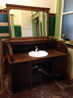Turning A 100 Year Old Oak Roll Top Desk Into Our Master