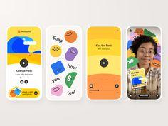 Headspace Mini by Joseph Ash Sakula for Headspace on Dribbble Web Design, App Ui Design, Interface Design, Logo Design, Snap App, Headspace App, Self Branding, App Logo, Ui Design Inspiration