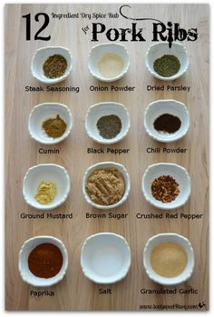 Kitchen Hacks: 12 Ingredient Dry Rub for Ribs - Toot Sweet 4 Two , < 12 Ingredients for Dry Spice Rub for Pork Ribs.