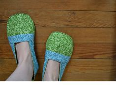 Little Leaf Indoor House Shoes Slippers. $25.00, via Etsy.