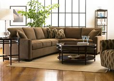 Sectional Living Room Furniture Layout.