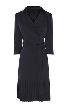 Karen Millen, TRENCH INSPIRED DRESS Navy