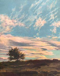 Tramonto sulla collina by Antonio Bonatesta Oil ~ 50 x 40