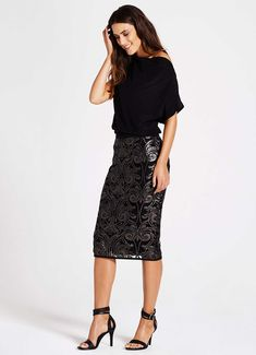 Buy Mint Velvet Baroque Sequin Pencil Skirt, Multi from our Women's Skirts range at John Lewis & Partners. Lace Skirt Outfits, Sequin Skirt Outfit, Sequin Pencil Skirt, Pencil Skirt Outfits, Winter Skirt Outfit, Stylish Outfits, Fashion Outfits, Sparkle Skirt, Evening Outfits