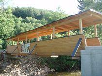 Glulam timber pedestrian bridge