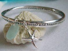 The Perfect Friendship, Bridesmaid, Wedding, Friend Sea Glass Bracelet