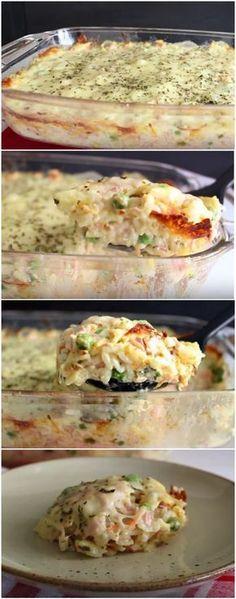 ALMOÇO CREMOSO NA TRAVESSA! (veja a receita passo a passo) #almoço #almoçocremoso #arroz #arrozcremoso