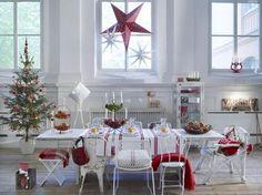 Kerst met rood als accentkleur. Door Ietje