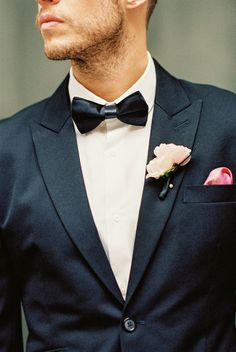 Dapper #Groom in a #bowtie I Brittany Lauren Photography