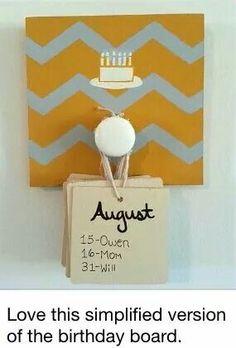 Birthday display Geburtstagsanzeige No related posts. Cute Crafts, Crafts To Do, Craft Gifts, Diy Gifts, Diy Projects To Try, Craft Projects, Diy Kalender, Birthday Charts, Birthday Chart For Classroom