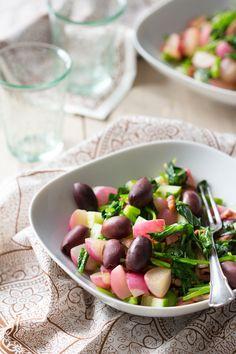 Deze salade is makkelijk, lekker en bevat slechts 4 ingrediënten. Glutenvrij genieten!