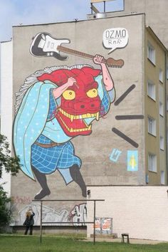 Street art by Italian artist Ozmo (c.2003)