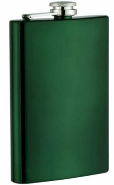New Green Powder Coated 8 oz Stainless Steel Liquor Hip Flask & Filling Funnel