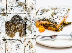 "piroggi.com | vine leaf ""lasagna"" with pumpkin & cauliflower"