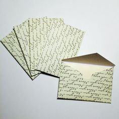 5 little I love you envelopes with cards! Each envelope is 2x3 and can be used for so many things! Greeting cards, anniversary cards, wedding