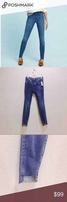 Anthropologie pilcro ultra high rise skinny jeans Brand new with tag. 24 petite. Anthropologie Jeans Skinny