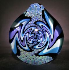 Boro Glass Lampwork Pendant Switchback Wig by ThePendantCollection, $40.00