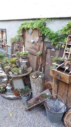 Garden Junk, Garden Deco, Garden Yard Ideas, Garden Crafts, Garden Projects, Garden Art, Garden Design, Palette Deco, Pinterest Garden