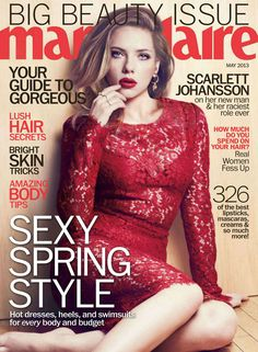 Scarlett Johansson Charms In Marie Claire US May 2013 by Txema Yeste | Fashion Gone Rogue: The Latest in Editorials and Campaigns