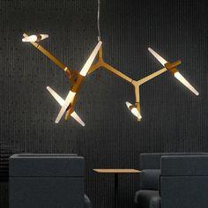 Roll Hill Agnes Pendant Lights tree branch vintage LED Lamps Fixtures Aluminum suspension lamp Home lighting 110V 240V