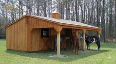 Lean-To Shedrow horse barn Would love this as a weekend retreat space!